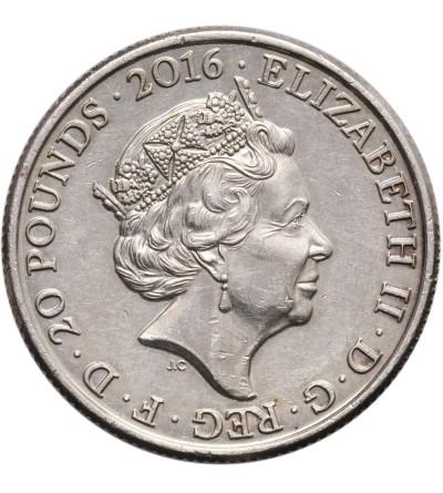 Wielka Brytania 20 funtów 2016, 90 rocznica urodzin Elżbiety II,