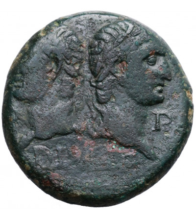 Rzym Cesarstwo. August i Agrypa 27 p.n.e. do 14 AD. AE Dupondius, Colonia Augusta Nemausus (Nîmes)