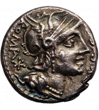 Rzym Republika. AR Denar 116-115 r. p.n.e.,M. Sergius Silus, mennica Rzym
