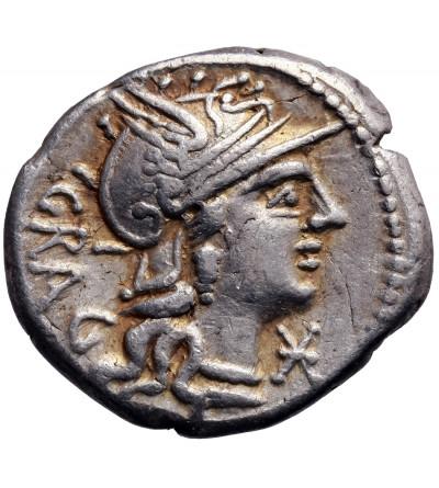 The Roman Republic. AR Denarius 136 BC, L. Antestius Gragulus, Roma mint