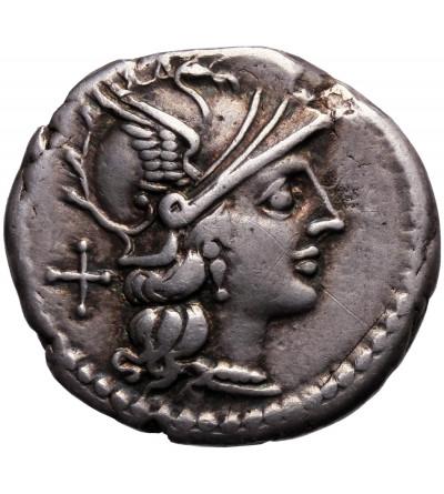 The Roman Republic. AR Denarius 155 BC, Sextus Atilius Saranus, Roma mint