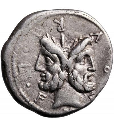 The Roman Republic. AR Denarius 120/119 BC, M. Furius L.f. Philus, Roma mint