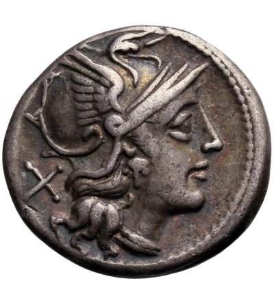 Rzym Republika. Anonimowy, AR Denar ok. 157/6 r. p.n.e., mennica Rzym