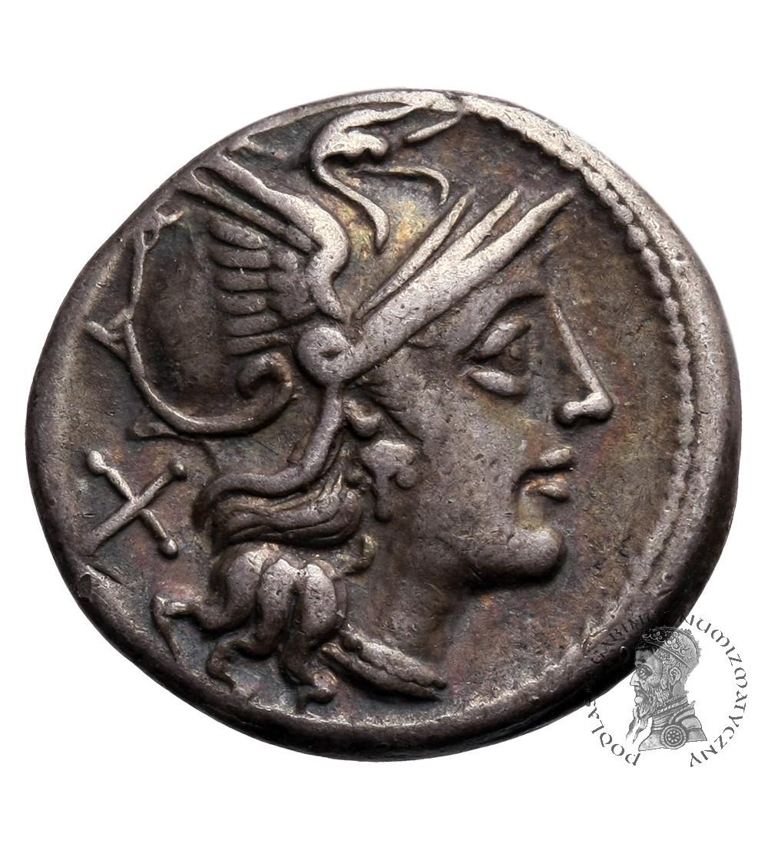 The Roman Republic. Anonymous, AR Denarius 157/6 BC. Rome mint
