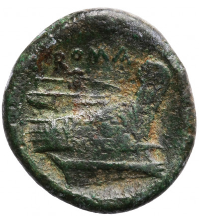 Rzym Republika. Anonimowy, AE Semuncia 215-212 r. p.n.e., mennica Rzym