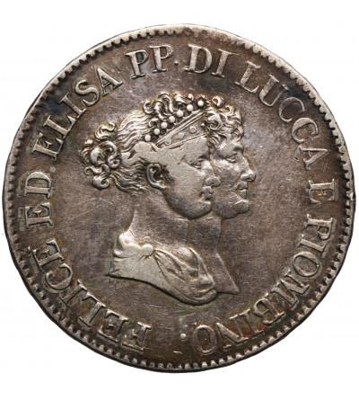 Włochy. Lucca i Piombino, 5 Franchi 1805