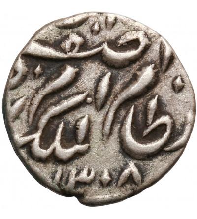 Indie - Hyderabad 1/8 rupii AH 1308 (24) / 1890 AD, Mir Mahbub Ali Khan II