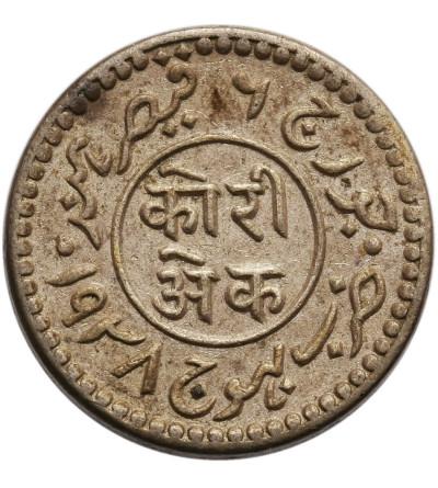Indie - Kutch 1 Kori VS 1994 / 1937 AD, Vijayarajji 1942-1947 AD - Jerzy VI