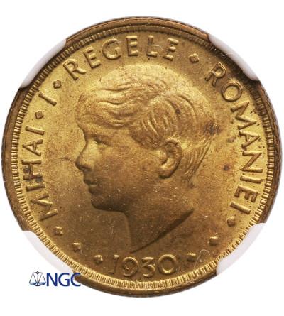 Romania 5 Lei 1930 H - NGC MS 62