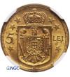 Rumunia 5 Lei 1930 H - NGC MS 62