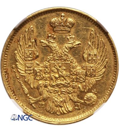 Polska - Zabór rosyjski. 3 ruble 20 złotych 1837, St. Petersburg - NGC AU 58