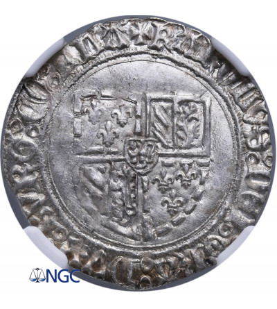 Niderlandy (Belgia), Flandria. Podwójny Patard bez daty, Brugia, Karol Śmiały 1467-1477 - NGC MS 63