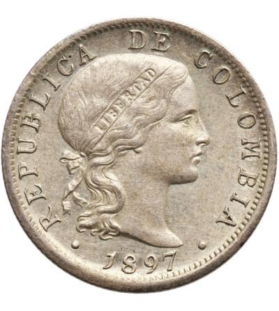 Kolumbia 10 centavos 1897, Bogota