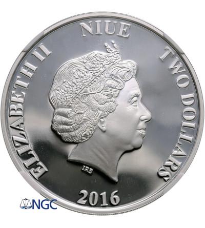 Niue 2 Dollars 2016, Greek Mythology Centaur, NGC PF 70 Ultra Cameo