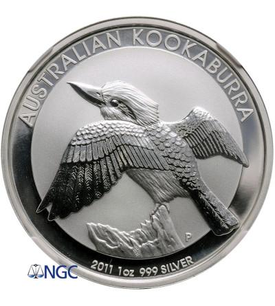 Australia Dollar 2011 P, Kookaburra - NGC MS 69