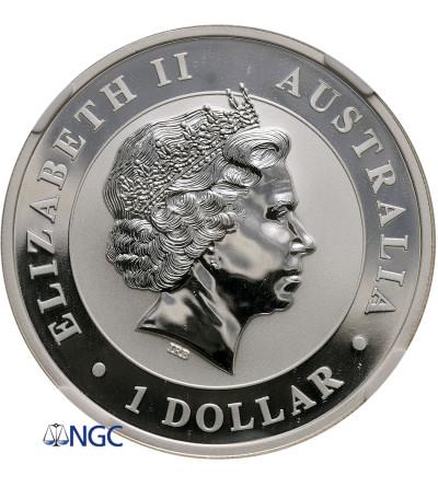 Australia 1 dolar 2011 P, Kookaburra (1 Oz Ag 999) NGC MS 69