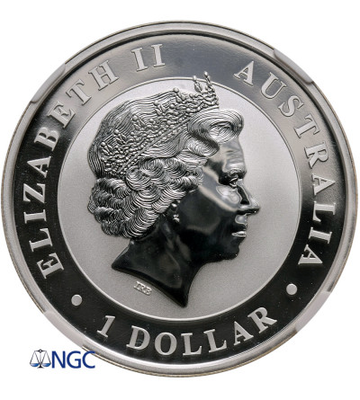 Australia 1 dolar 2016 P, koń australijski  (1 Oz Ag 999) NGC MS 70
