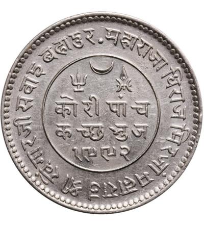 Indie - Kutch 5 Kori VS 1992 / 1935 AD, Khengarji III 1875-1942 AD - Jerzy V