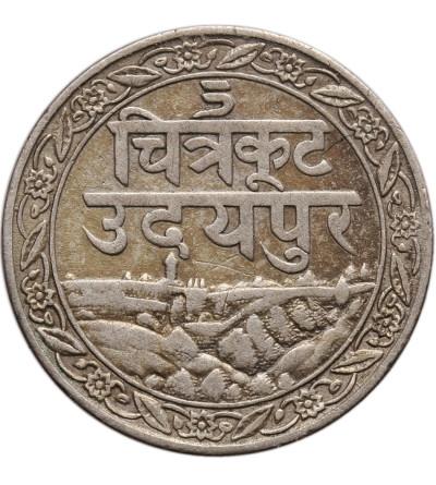 Indie - Mewar, 1/8 rupii VS 1985 / 1928 AD, Fatteh Singh (Dosti Lundhun)