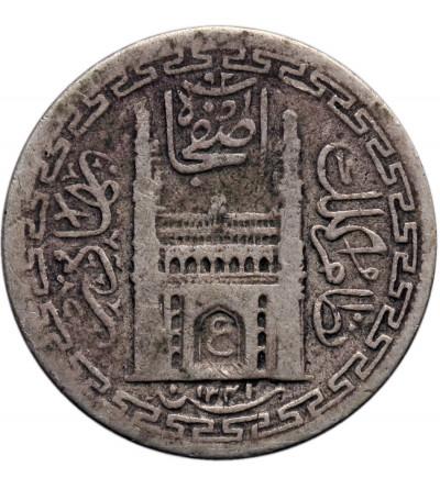 Indie - Hyderabad. 2 Annas AH 1341 rok 13 / 1922 AD, Mir Usman Ali Khan