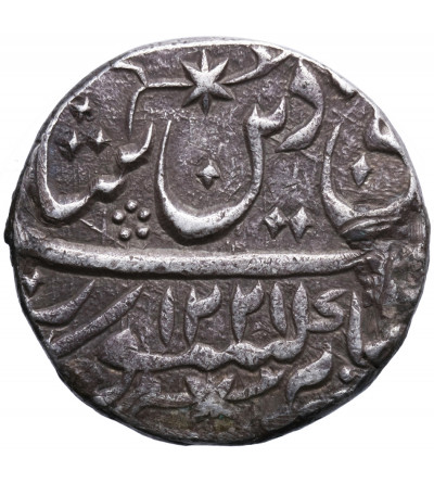 Indie - Awadh. Rupia AH 1221 / YR 26, Muhammadabad Banaras, Shah Alam II