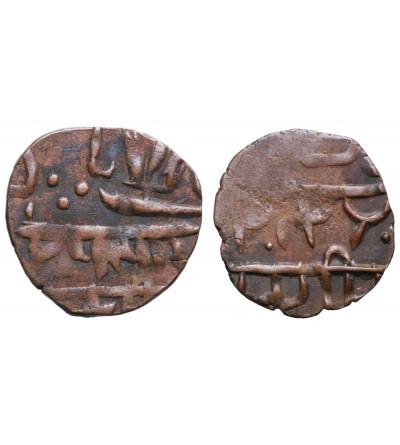 Indie. Prymitywne imitacje (naśladownictwa) monet  XIX wiek - 2 sztuki
