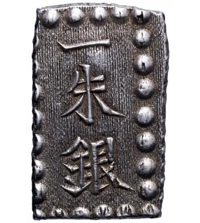 Japonia. 1 Shu (Isshu Gin) w srebrze bez daty (1853-65), Kaei