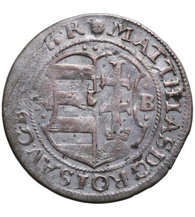 Węgry. Grosz szeroki 1617 NB, Nagybanya. Matthias 1612-1619