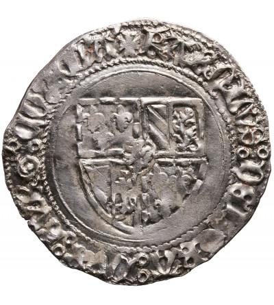Niderlandy (Belgia), Flandria. Podwójny Patard bez daty, Brugia?, Karol Śmiały 1467-1477 - RARE