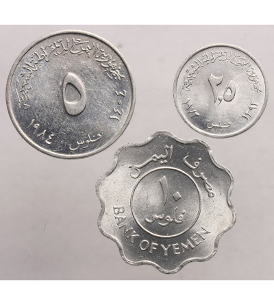 Jemen, Ludowa Republika Demokratyczna. 2 1/2, 5,10 Fils 1973-1981, zamek Seera