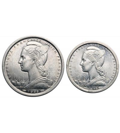 Francuska Afryka Równikowa 1 i 2 franki 1948