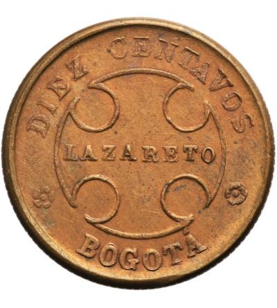 Kolumbia 10 Centavos 1901, Bogota (Lazaret dla trędowatych)