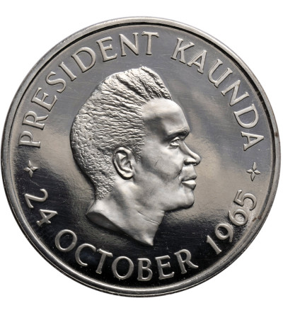 Zambia 5 szylingów 1965, Pierwsza Rocznica Niepodległości - Proof