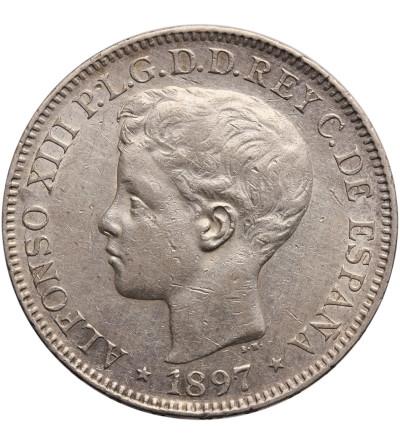 Filipiny 1 Peso 1897, Alfonso XIII