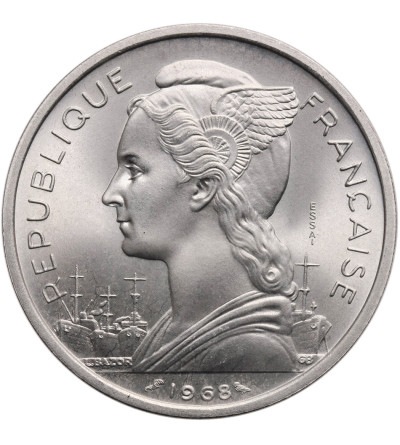 Francuskie Terytorium Afarów i Issów 5 franków 1968 - ESSAI (próba)