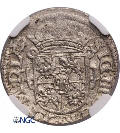 Poland / Lithuania. Zygmunt III Waza. Poltorak (1/24 Taler / Dreipölker) 1619, Vilnius - NGC MS 62
