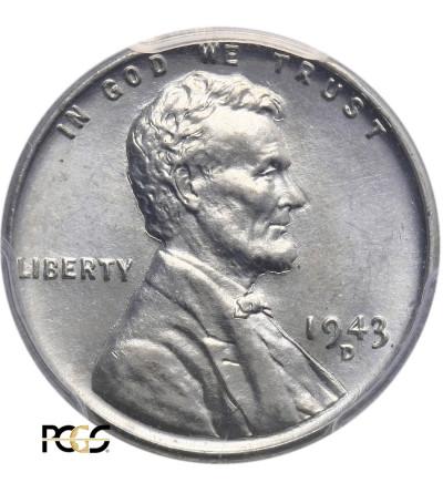 USA. Lincoln Cent 1943 D, Denver - PCGS MS 65