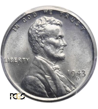 USA. Lincoln Cent 1943 D, Denver - PCGS MS 64