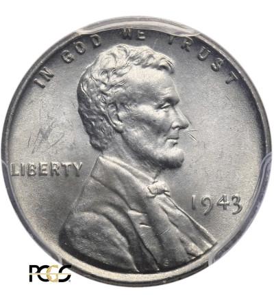 USA. Lincoln Cent 1943, Philadelphia - PCGS MS 64