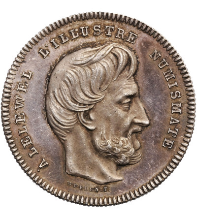Poland / Belgium. Silver medal 1858, Joachim Lelewel