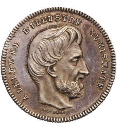 Polska / Belgia. Medal 1858, Joachim Lelewel
