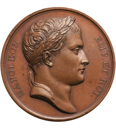 Poland / France, Napoleon I. Bronze medal 1812 in memory of the liberation of Vilnius by the Napoleonic army