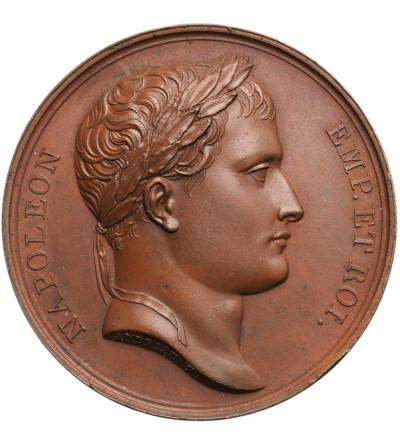 Rosja / Francja, Napoleon I. Medal 1812, wybity na pamiątkę zwycięskiej bitwy pod Borodino