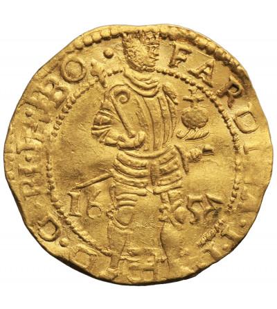 Niderlandy. Dukat (Dukaat) 1653, Zwolle, z tytulaturą FARDINA I.I