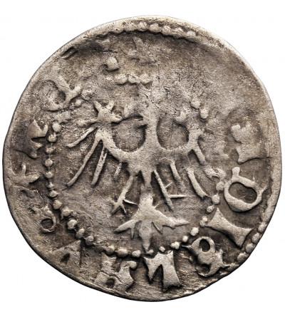 Polska. Władysław Jagiełło 1386–1434. Kwartnik (Półgrosz) ruski, Lwów (MONETA LEMBVRO)