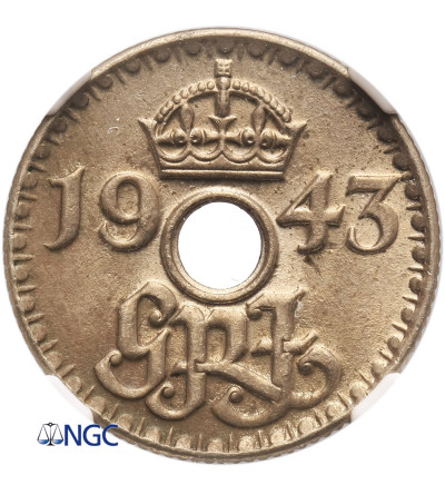 Nowa Gwinea 6 pensów 1943 - NGC MS 63