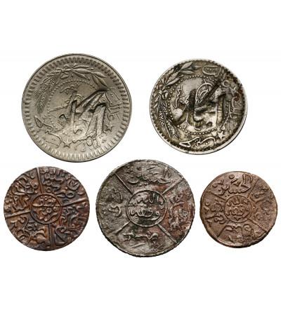 Hejaz 20 i 40 Para AH 1327 (1916 AD), 1/4 i 1/2 Piastre AH 1334/5 (1919 AD), 1 Piastre AH 1334/5 (1919 AD)