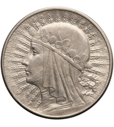 Poland 10 Zlotych 1932, London - without mint mark, woman's head