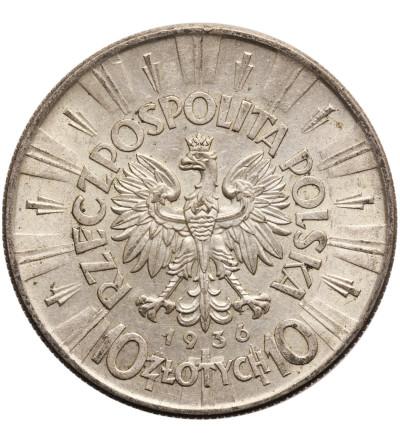 Poland, 10 Zlotych 1936, Warsaw mint - Jozef Pilsudski
