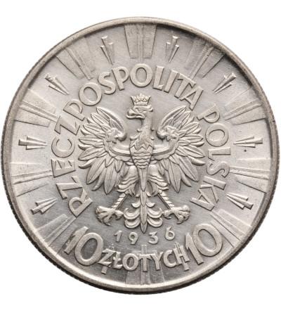 Polska 10 złotych 1936, Warszawa - Józef Piłsudski